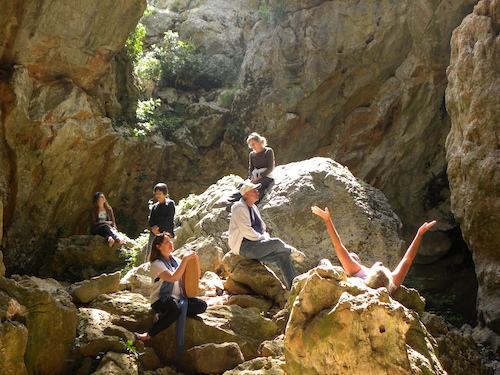 Perillos Cave in Southern France...with Jan Cercone at Soundandlighthealingarts.com