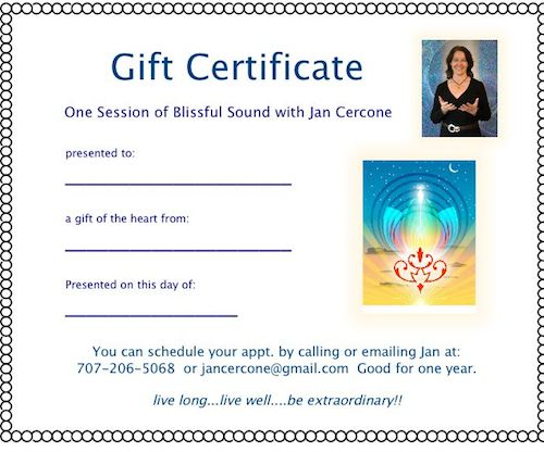 Gift Certificate for Sound and Light Healing Arts