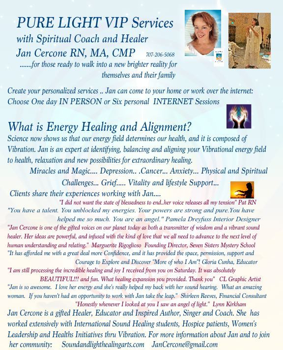 VIP Program for Soundandlighthealingarts.com with Jan Cercone