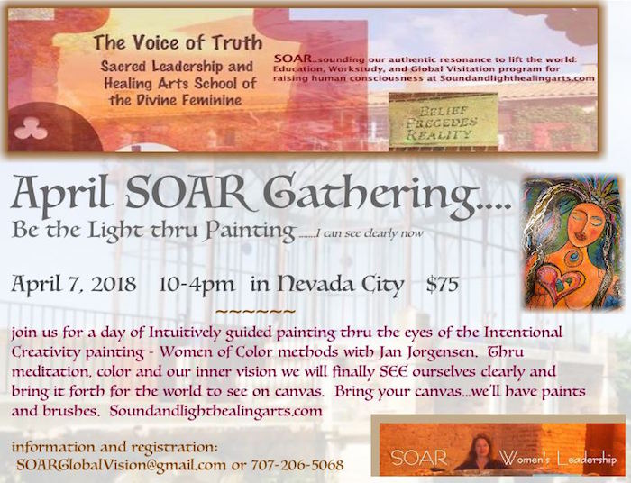 SOAR Painting workshop...See the Light and Paint it