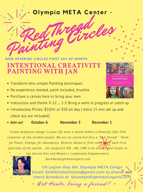 Come explore painting that is healing and fun with Jan Jorgensen