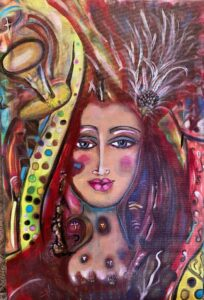 """Muse Fire 16x24"""" print with paint over $333"""
