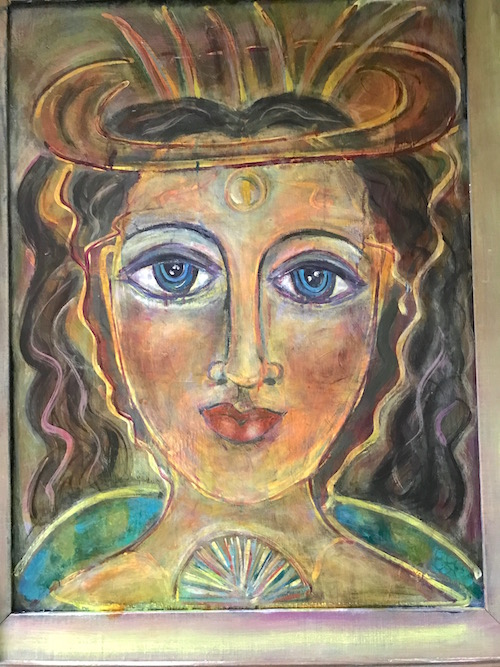 "Talisman...Holy Grail on Wood 36x24"" not for sale"