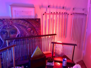 Specially tuned chimes help your body re-tune